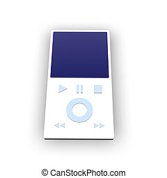 MP3 Player 1 - 3D rendering of an generic MP3 Player.