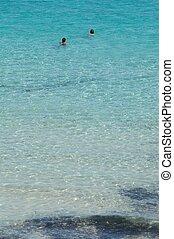 Swimming - People swimming in wonderful italian sea in...