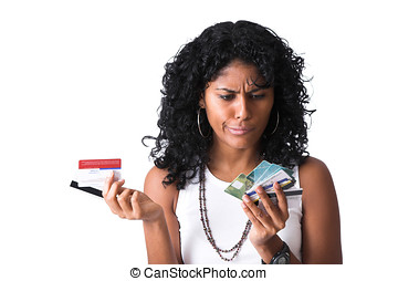 Which creditcard to use - Pretty brazilian woman with a...