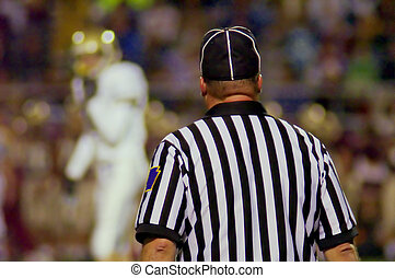 Football Referee - american football referee observing...
