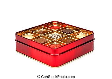 Red chocolate box