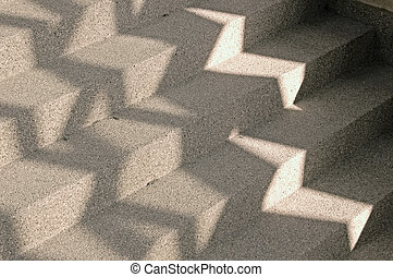 Abstract steps - Light and shade on some outdoor stairs