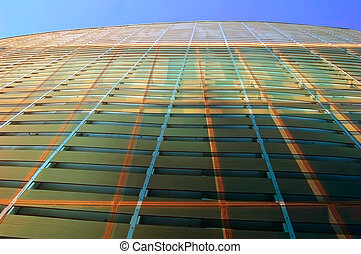 Window wall abstract - Abstract design of a glass wall of a...