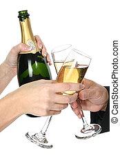 Celebration - Champagne celebration.