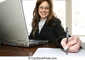 Business Woman - Beautiful thrity something business woman...