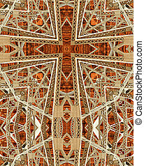Navajo Bridge cross2 - kaleidoscope cross from photo of...