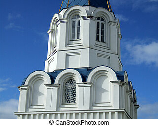 Orthodox church tower in Russia