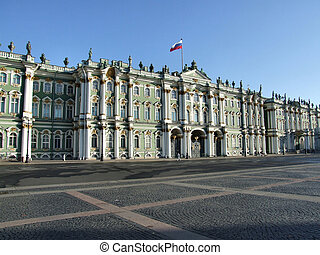 Hermitage museum in Saint Petersburg - Beautiful, ornamented...