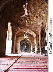 Masjid Wazir Khan - The Interior shot of Masjid Wazir Khan