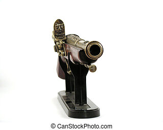Antique pistol - KONICA MINOLTA DIGITAL CAMERA Close up of...
