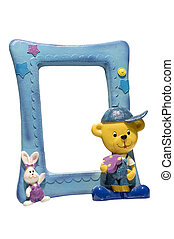 Photoframe - series object on white: isolated -for children...