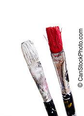 paintbrush on white background