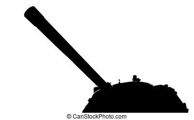 Gun and Turret of a Tank - -- these belong to an aging tank...