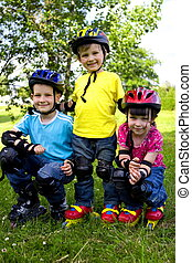 bikers - happy children