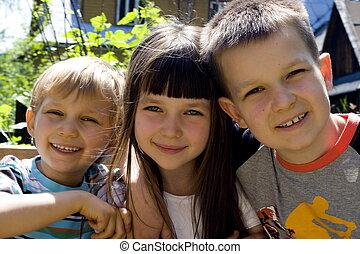 family - happy children