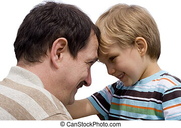 son with father - happy son with father