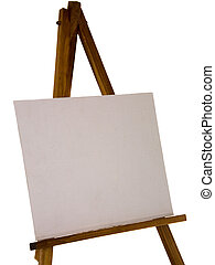 easel - An easel, with blank canvas - with clipping path