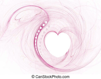 Valentine Hearts - A valentine background in pink and white