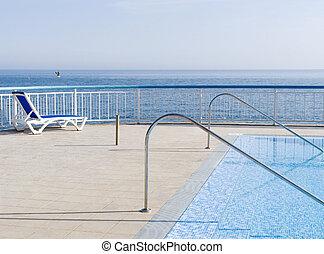 Pool on coast of the black sea