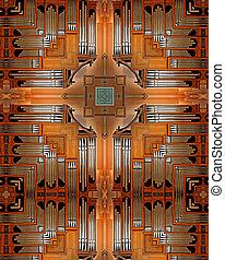 Pipe Organ cross