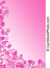 pink daisy frame - pink falling flower frame to be used as...