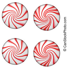 Christmas Mints - An illustration of four christmas mints....