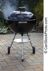 BBQ Kettle - Barbecue kettle in use