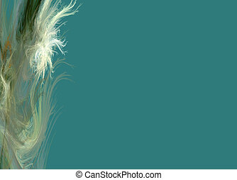 White Feathers on Teal - White Feathers on a teal background...