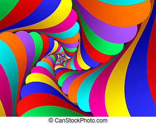 Swirly Curves in vibrant colors leading to infinity.