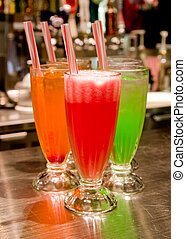 Fruit Juices - 3 fruit juices ready to be served