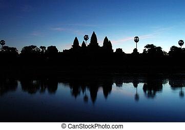 Angkor Wat at Dawn - Photo of Ankgor Wat at dawn time in...