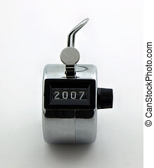 2007 - Photo of clicker/counter with the number 2007 on it