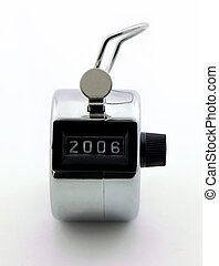 2006 - Photo of clicker/tally counter with the number 2006...