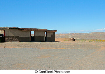 Four Corners - Empty facilities at the Four Corners Monument...