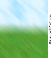 grass sky blur - An abstract background with a grass and sky...