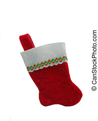 Christmas Sox - A red and white blank Christmas sox,over...