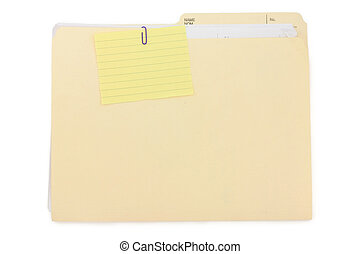 notepaper and file folder