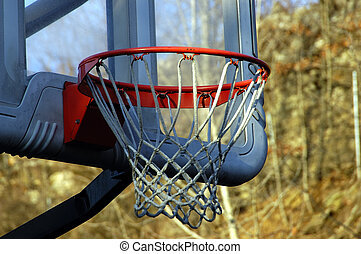 Basketball Hoop - Closeup shot of abaseketball hoop against...