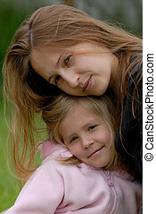mum with a daughter - the mum with a daughter
