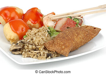 Chinese Food - Delicious plate of Chinese food.