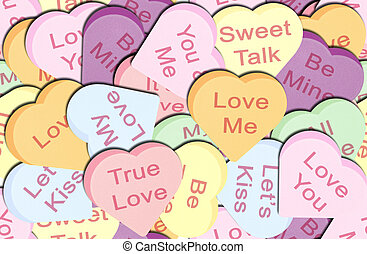Seamless Hearts - Seamless Repeating Conversation hearts...