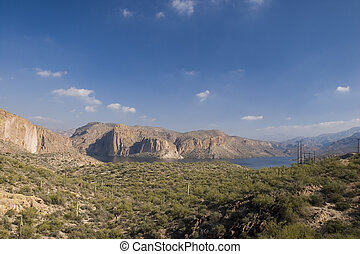 Canyon Lake Vista - Canyon Lake, Tonto National Forest;...