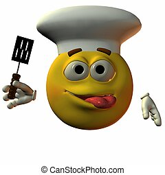 Smiley-Chef - 3D Render