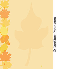 fall leaves - Seasonal fall leaves background appropriate...