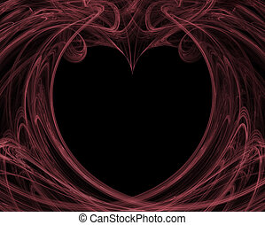 Valentine Background in Pink and Black - A valentine...