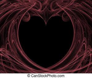 Valentine Background in Pink and Black - A valentine...