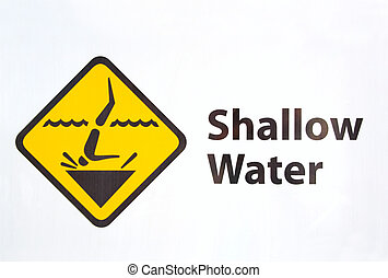 Shallow Water - shallow water swimming sign no diving please