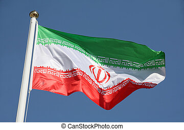 Irans flag - The national flag of the Islamic Republic of...