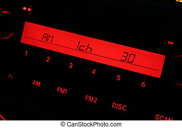 car radio panel close up