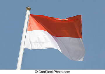 Indonesian flag - The national flag of Indonesia.
